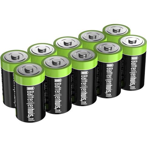 D Alkaline Batterijen 10x