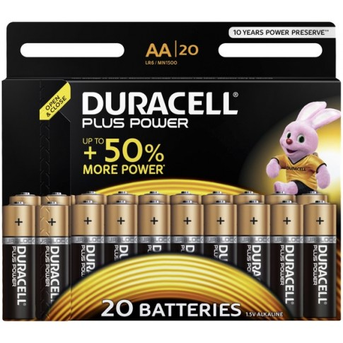 Duracell AA Plus Power Alkaline 20x