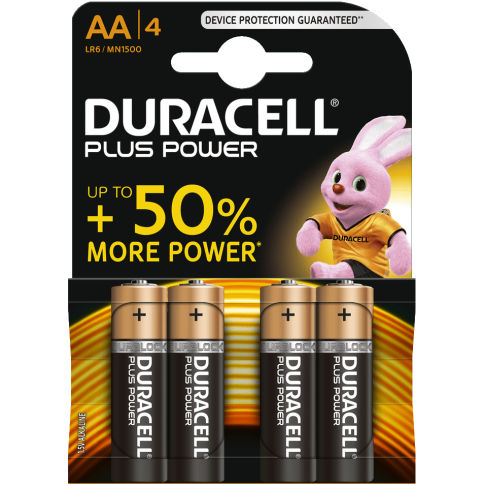 Duracell Plus Power Alkaline AA 4x