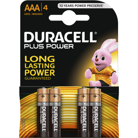 Duracell Plus Power Alkaline AAA 4x