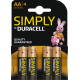 Duracell Simply Alkaline AA 4x