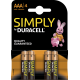 Duracell Simply Alkaline AAA 4x