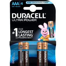 Duracell Ultra Power Alkaline AAA 4x