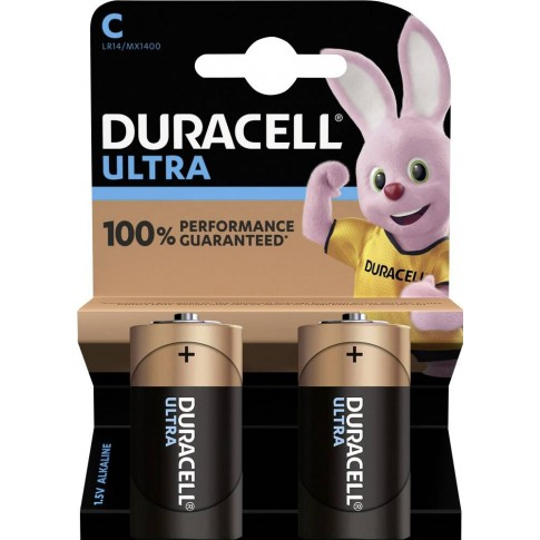 Duracell Ultra Power Alkaline C 2x