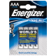 Energizer AAA lithium 4x