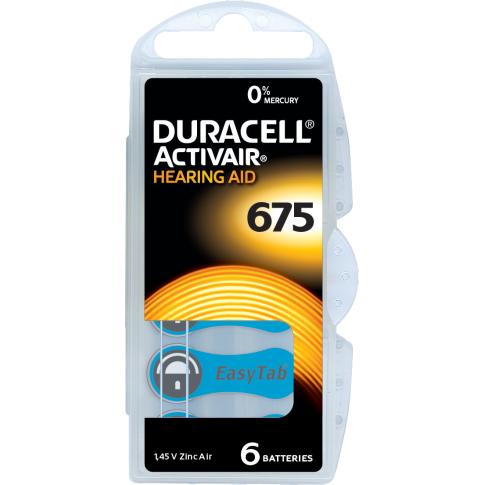 Duracell DA675 6x