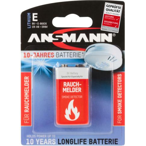 Ansmann 9v lithium voor rookmelder
