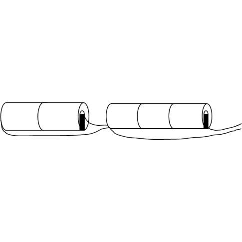 Noodverlichtingsaccu C Stick 6V 2.5Ah