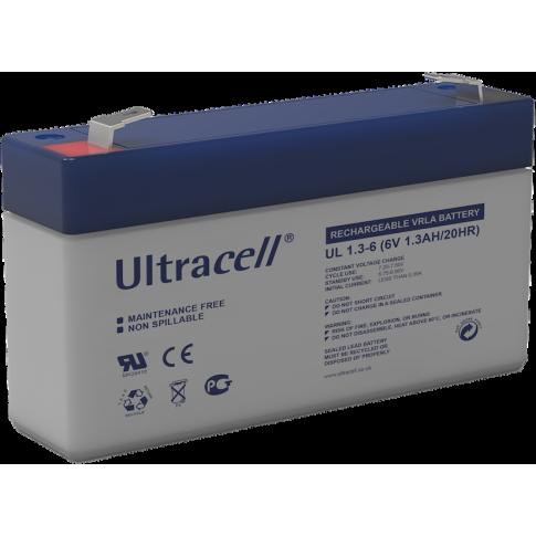 Ultracell loodaccu 6v 1,3Ah