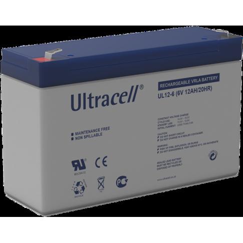 Ultracell loodaccu 6v 12Ah