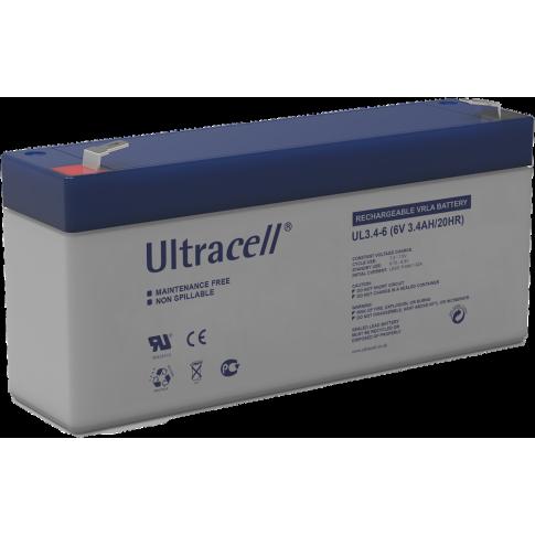 Ultracell loodaccu 6v 3,4Ah