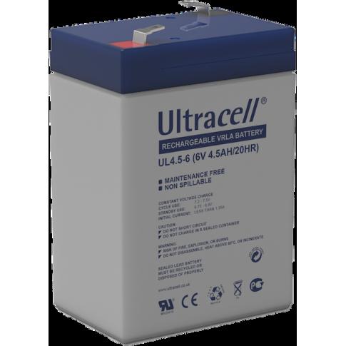 Ultracell loodaccu 6v 4,5Ah
