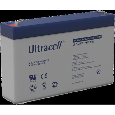 Ultracell loodaccu 6v 7Ah