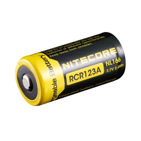 Nitecore RCR123A Li-ion NL166 650mAh