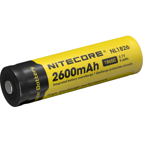 Nitecore 18650 li-ion NL1826 2600mAh