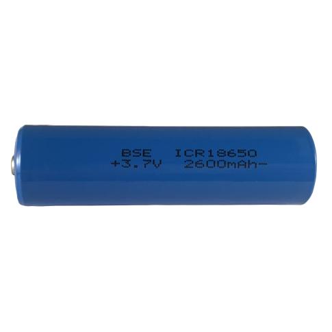 18650 Li-Ion 2600mAh - unprotected button top