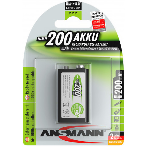 Ansmann 9V 200mAh MaxE