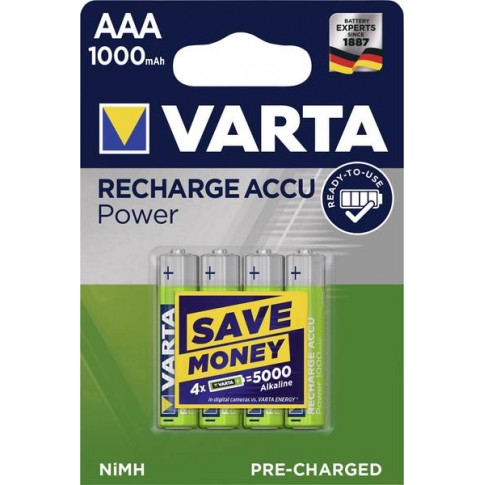 Varta AAA 1000mAh Ready2Use 4x