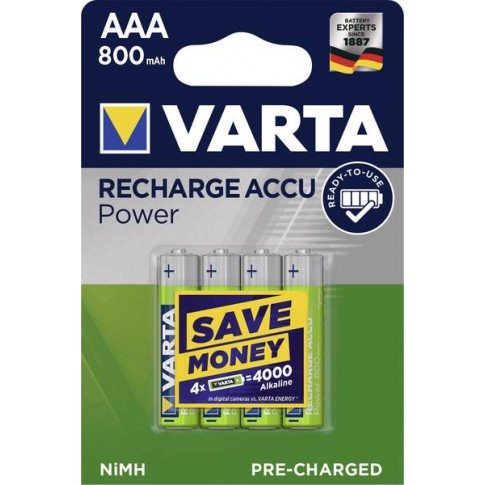 Varta AAA 800mAh Ready2Use 4x