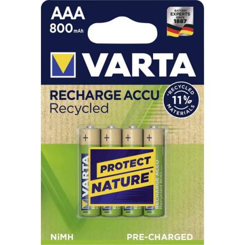 Varta AAA Recycled 800mah 4x