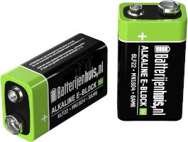 9V alkaline batterijen