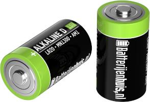 D alkaline batterijen