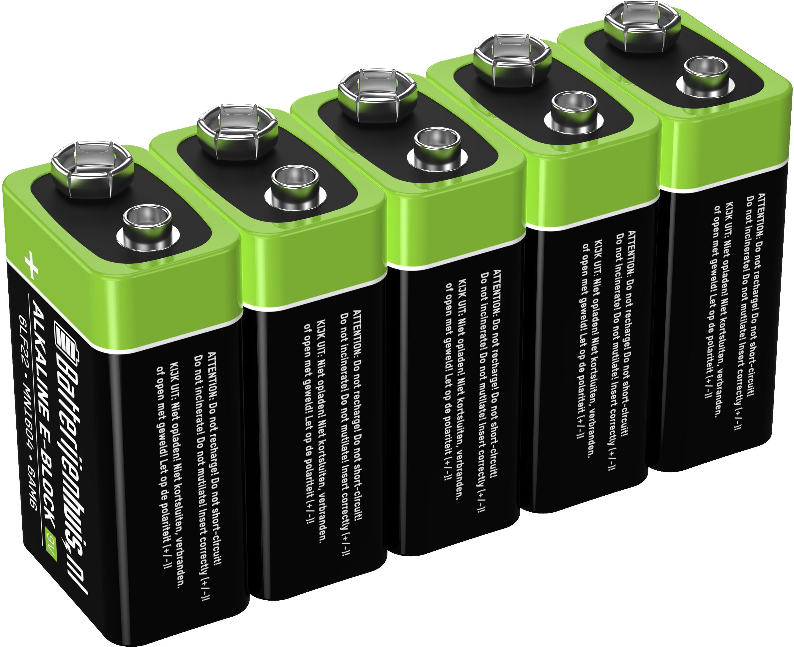 9V Alkaline Batterijen 5x