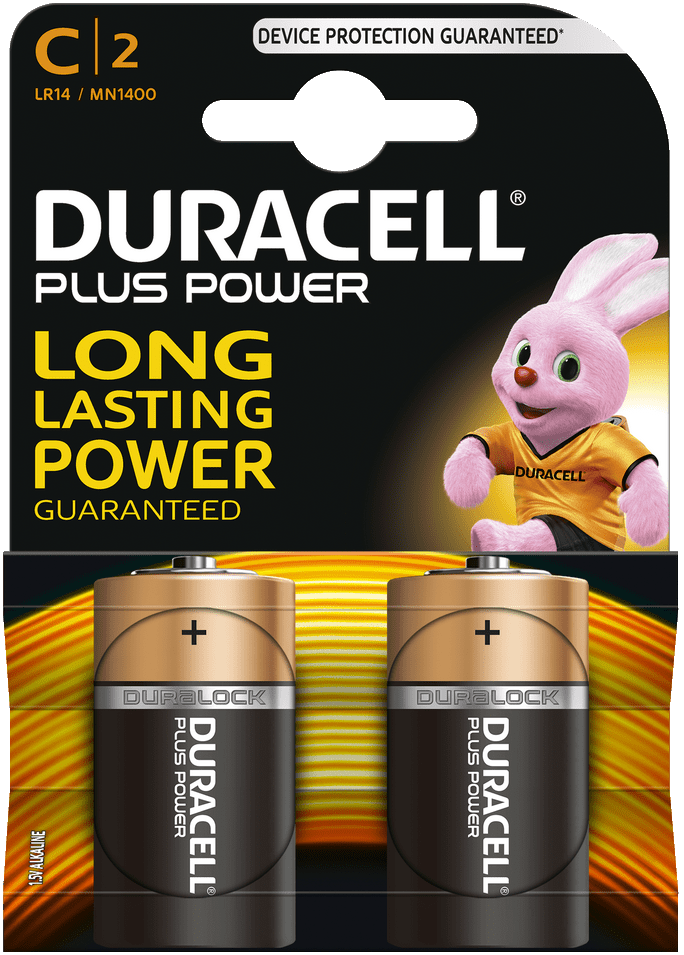 Duracell Plus Power Alkaline C 2x