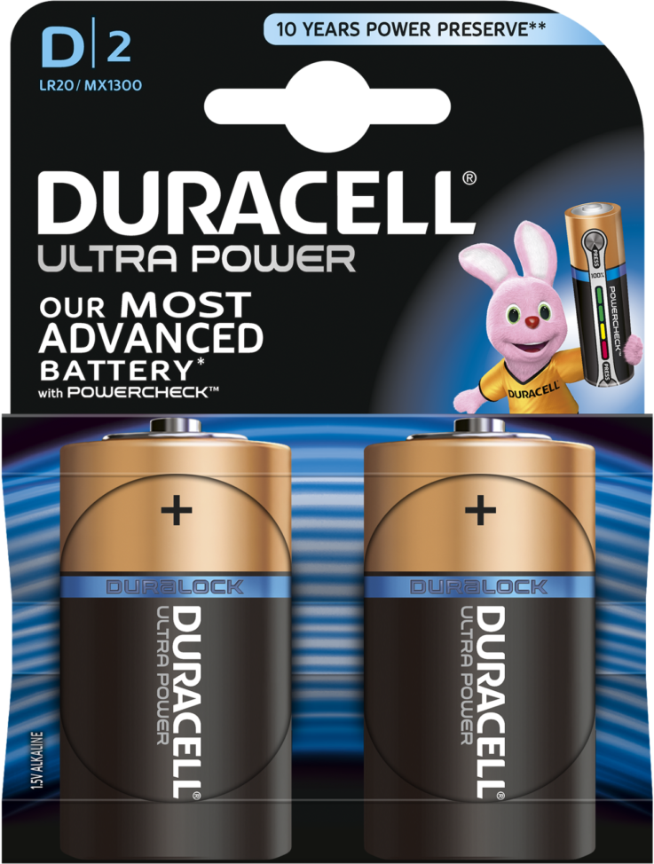 Duracell Ultra Power Alkaline D 2x