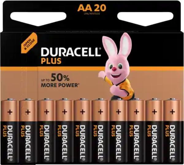 Duracell AA Plus Power Alkaline 20x