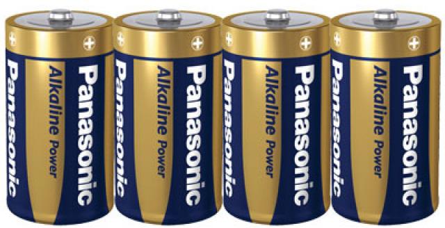 Panasonic Alkaline Power D 4x