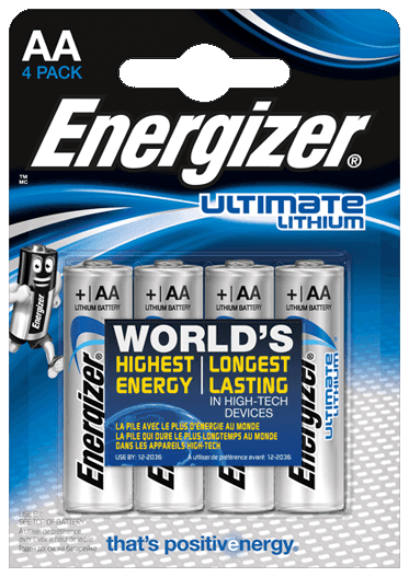Energizer AA lithium 4x