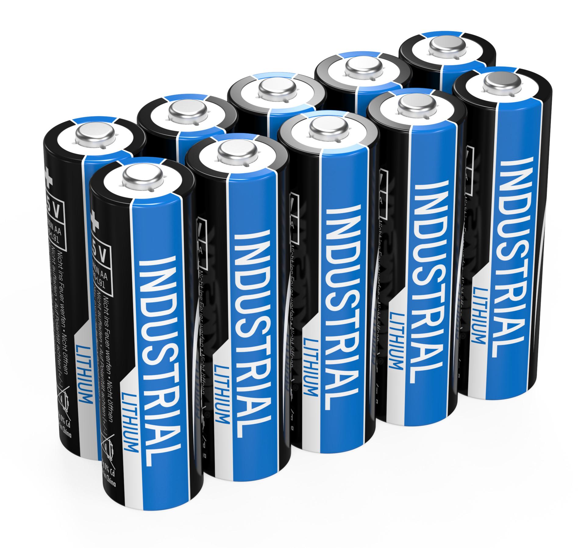 Ansmann AA Industrial Lithium 10x
