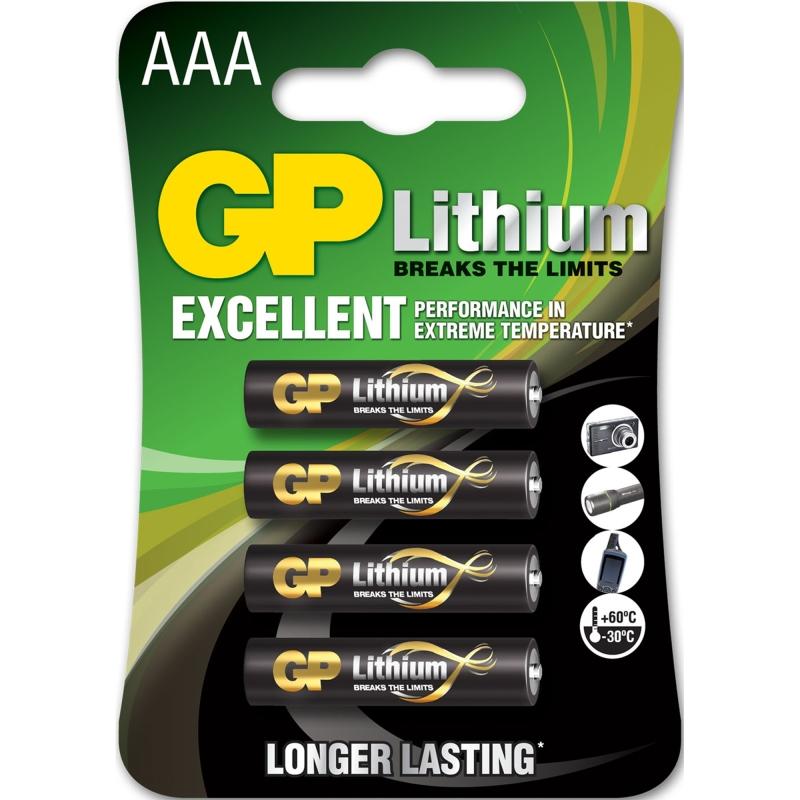 GP AAA Lithium 4x