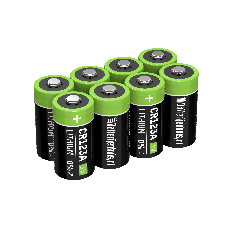 CR123A Batterijen 8x