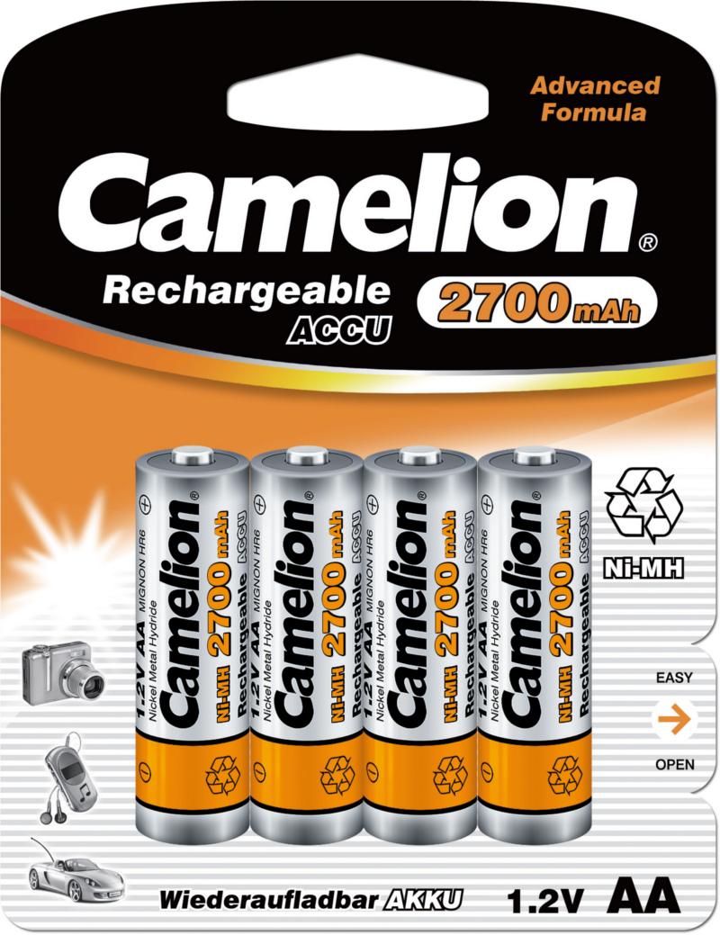 Oplaadbare AA Batterij IEC code: LR06, MN1500.