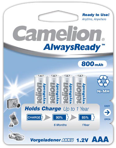 Camelion Always Ready 800mAh AAA 4x