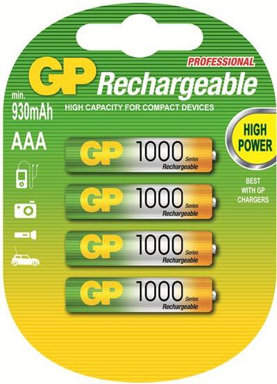GP AAA1000 oplaadbare batterijen