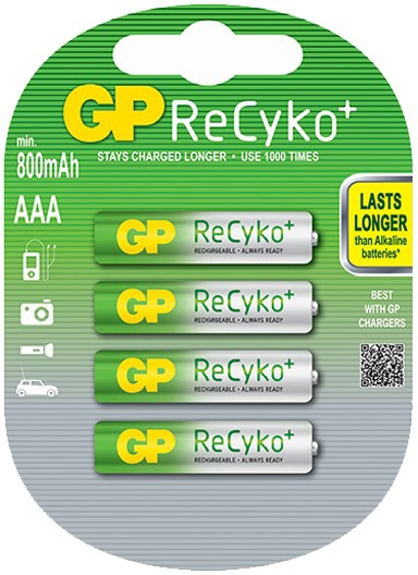 GP Recyko AAA 800mAh 4x