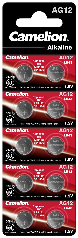 Camelion AG12 - LR43 10x