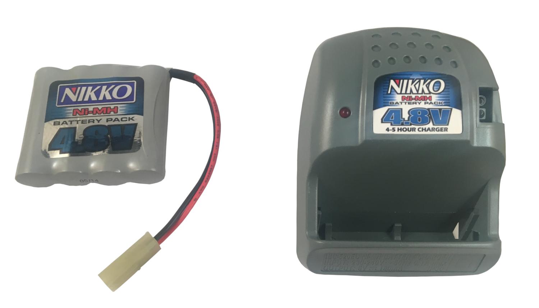Nikko Ni-MH 4.8V Mega accu & lader