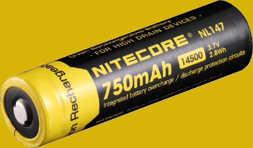 Nitecore 14500 Li-ion NL147 750mah