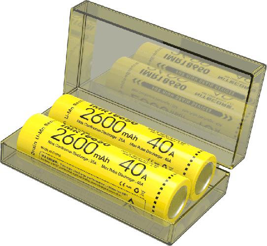 Nitecore IMR18650 li-ion high drain 2600mAh 2x