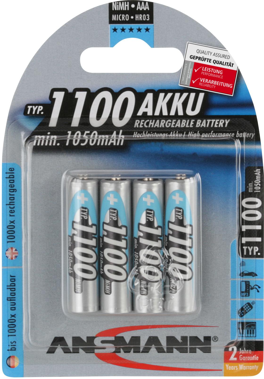 Ansmann AAA 1100mAh 4x