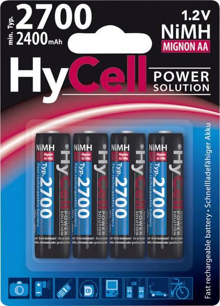 HyCell HR06 AA oplaadbare batterij (penlite) NiMH 1.2 V 2700 mAh 4 stuks
